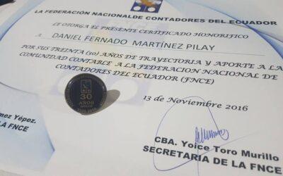 Sesión Solemne realizada por el día del contador ecuatoriano